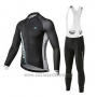 2020 Cycling Jersey Merida Black Long Sleeve and Bib Tight