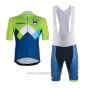 2020 Cycling Jersey Slovenia Green Blue Short Sleeve and Bib Short