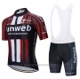 2020 Cycling Jersey Sunweb Black Red Short Sleeve and Bib Short