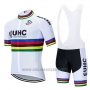 2020 Cycling Jersey UHC UCI World Champion Short Sleeve and Bib Short