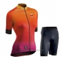 2020 Cycling Jersey Women Northwave Orange Short Sleeve and Bib Short