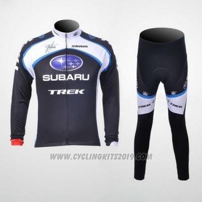 35a546b9f 2011 Cycling Jersey Subaru White and Black Long Sleeve and Bib Tight