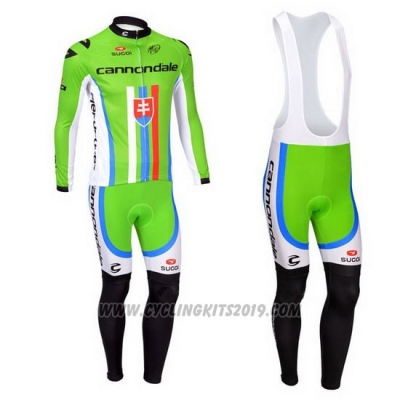2013 Cycling Jersey Cannondale Campione Slovakia Long Sleeve and Bib Tight