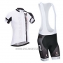 2014 Cycling Jersey Nalini White Short Sleeve and Salopette