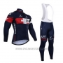 2015 Cycling Jersey IAM Blue Long Sleeve and Bib Tight