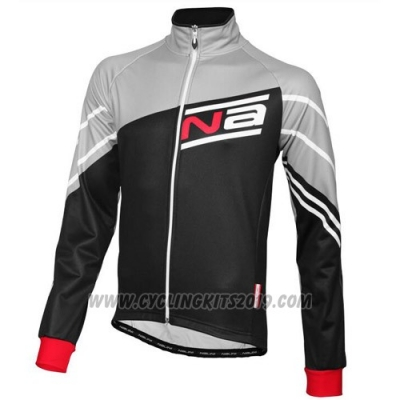 2016 Cycling Jersey Nalini Black and Gray Long Sleeve and Salopette