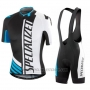 2016 Cycling Jersey Specialized Black and Blue Short Sleeve and Bib Short