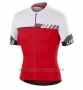 2016 Cycling Jersey Specialized White and Deep Red Short Sleeve and Bib Short