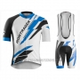 2016 Cycling Jersey Trek Bontrager Blue and White Short Sleeve and Bib Short