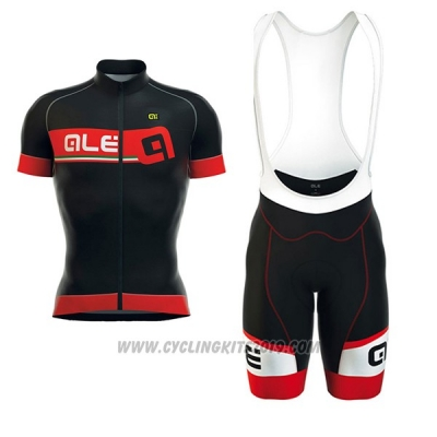 2017 Cycling Jersey ALE Formula 1.0 Adriatico Red and Black Short Sleeve and Bib Short