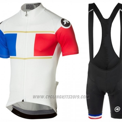2017 Cycling Jersey Assos Campione France Short Sleeve and Bib Short