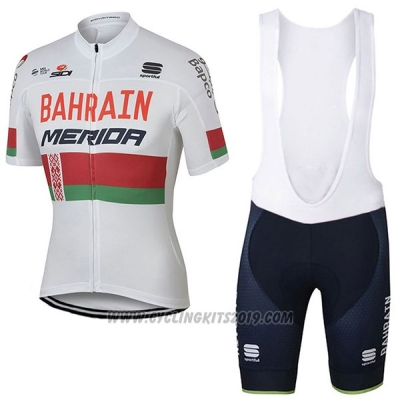 2017 Cycling Jersey Bahrain Merida Campione Bielorusso Short Sleeve and Bib Short