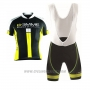 2017 Cycling Jersey Biemme Identity Black and Yellow Short Sleeve and Bib Short
