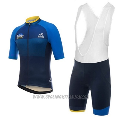 2017 Cycling Jersey Giro D'italy Dark Blue Short Sleeve and Bib Short