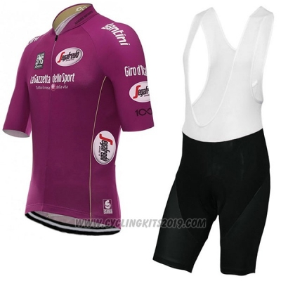 2017 Cycling Jersey Giro D'italy Fuchsia Short Sleeve and Bib Short