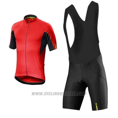 2017 Cycling Jersey Mavic Red Short Sleeve and Bib Short