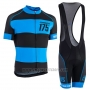 2017 Cycling Jersey Orbea Black and Blue Short Sleeve and Bib Short