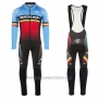 2017 Cycling Jersey Ridley Rincon Long Sleeve and Bib Tight Red and Blue Short Sleeve and Bib Short