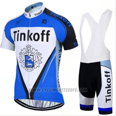 2017 Cycling Jersey Tinkoff Blue Short Sleeve and Bib Short