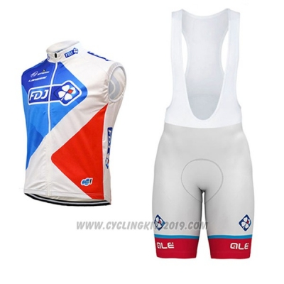 2017 Wind Vest FDJ Blue and Red