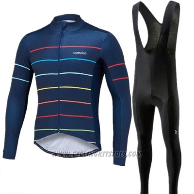 2018 Cycling Jersey Morvelo Deep Blue Short Sleeve and Bib Short