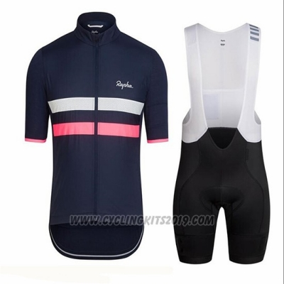 2018 Cycling Jersey Ralph Blue Deep and Pink Short Sleeve and Bib Short