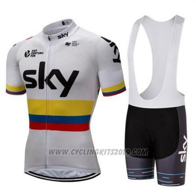 2018 Cycling Jersey Sky Campione Colombia Short Sleeve and Bib Short
