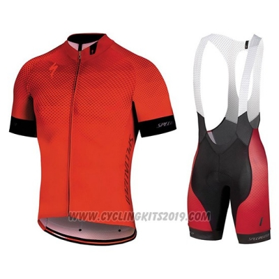 2018 Cycling Jersey Specialized Orange Black Short Sleeve and Bib Short(1)
