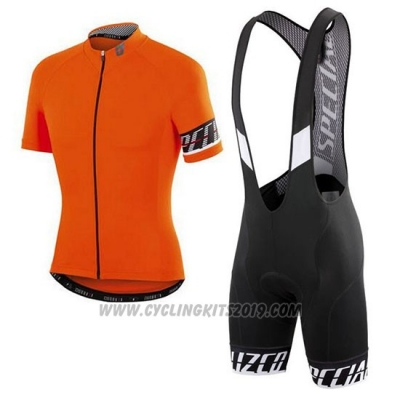 2018 Cycling Jersey Specialized Orange Black Short Sleeve and Bib Short