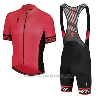 2018 Cycling Jersey Specialized Pink Black Short Sleeve and Bib Short