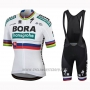 2019 Cycling Jersey Bora Champion Slovakia Short Sleeve and Bib Short