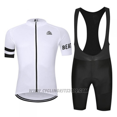 2019 Cycling Jersey Chomir White Short Sleeve and Bib Short