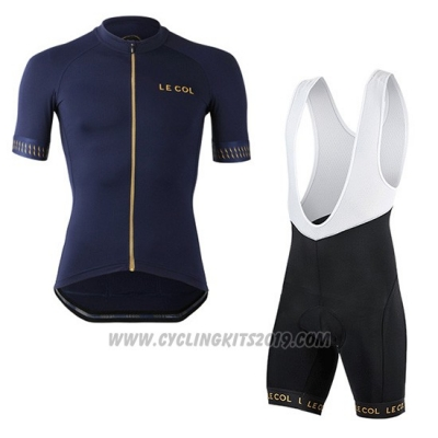2019 Cycling Jersey Lecol Blue Short Sleeve and Bib Short