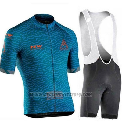 2019 Cycling Jersey Northwave Dark Blue Short Sleeve and Bib Short