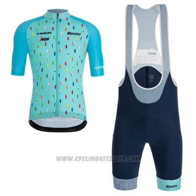 2019 Cycling Jersey Richie Sky Blue Short Sleeve and Bib Short