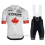 2019 Cycling Jersey Trek Factory Racing Champion Canada Short Sleeve and Bib Short