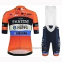 2019 Cycling Jersey Vini Fantini Orange Short Sleeve and Bib Short01