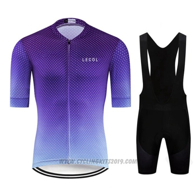2020 Cycling Jersey Le Col Purple Short Sleeve and Bib Short