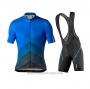2020 Cycling Jersey Mavic Blue Black Short Sleeve and Bib Short