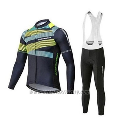 2020 Cycling Jersey Merida Green Black Long Sleeve and Bib Tight