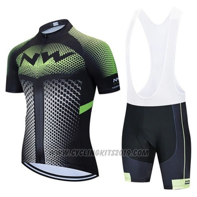 2020 Cycling Jersey Northwave Black White Green Short Sleeve and Bib Short
