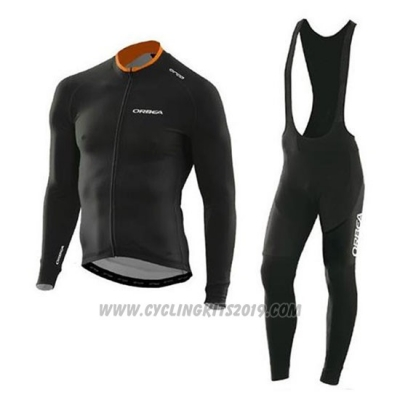 2020 Cycling Jersey Orbea Black Long Sleeve and Bib Tight