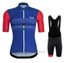 2020 Cycling Jersey Rapha Red Blue Short Sleeve and Bib Short