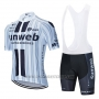 2020 Cycling Jersey Sunweb White Black Short Sleeve and Bib Short