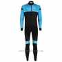 2020 Cycling Jersey Trek Black Blue Long Sleeve and Bib Tight