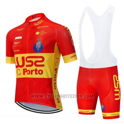 2020 Cycling Jersey W52-FC Porto Red Yellow Short Sleeve and Bib Short