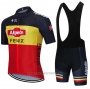 2021 Cycling Jersey Alpecin Fenix Black Yellow Red Short Sleeve and Bib Short