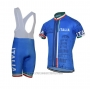 2021 Cycling Jersey Italy Blue Short Sleeve and Bib Short