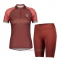 2021 Cycling Jersey Women Scott Dark Red Short Sleeve and Bib Short
