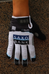 Saxo Bank Tinkoff Full Finger Gloves Cycling White